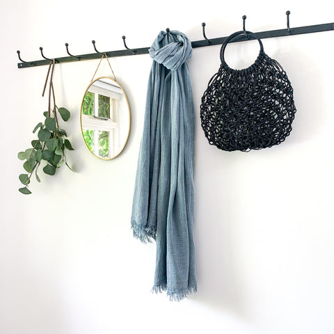 Soft Cotton Scarf in Denim Blue