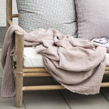 Rose Double Weave Throw