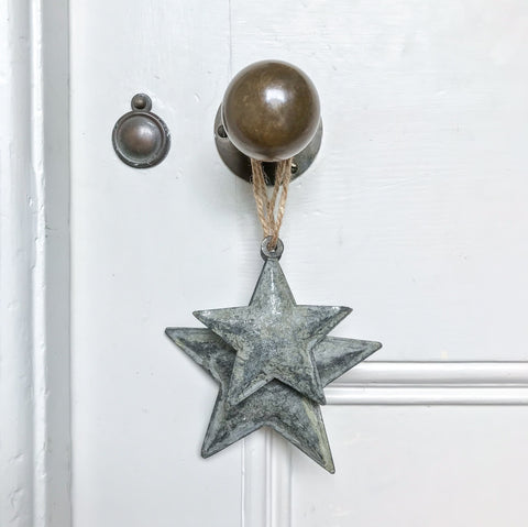 Zinc Hanging Star Small