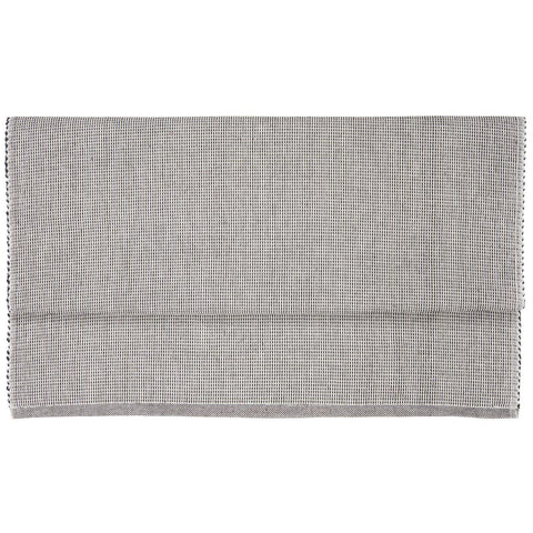 Charcoal and White Table Runner