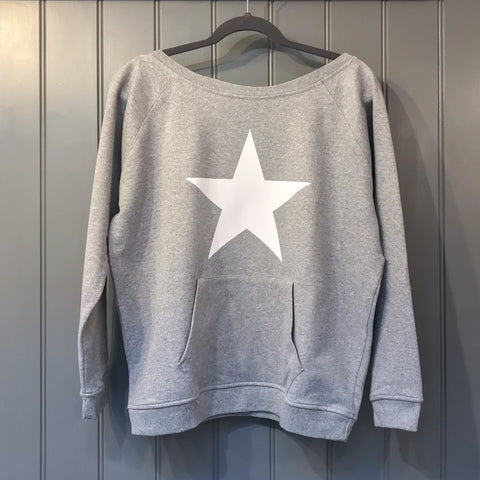 Star Sweatshirt in Grey Marl