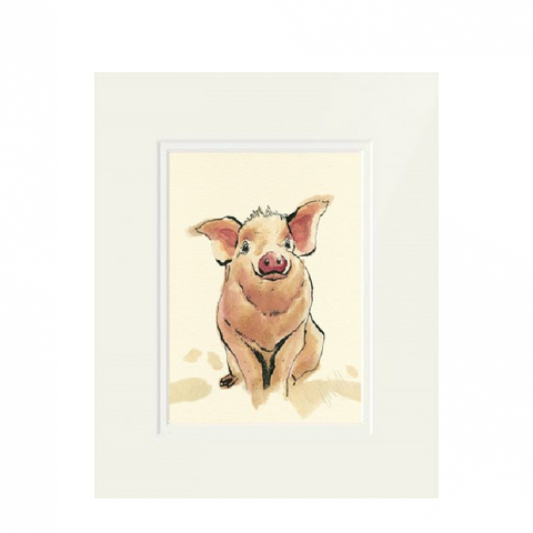 'Piggy' Framed Print by Anna Wright