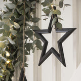 Black Wooden Star 39cm