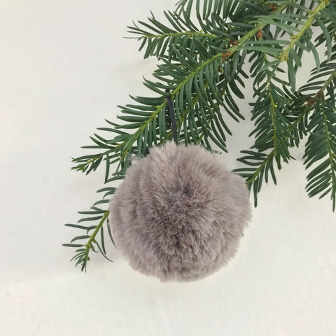 Small Fluffy Grey Bauble