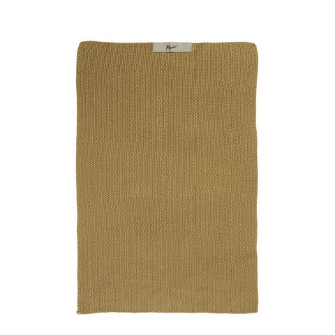 Textured Hand Towel - Mustard Yellow