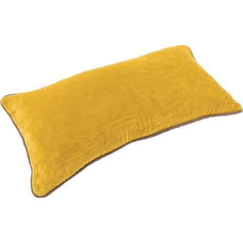 Velvet Rectangle Cushion - Yellow Ochre