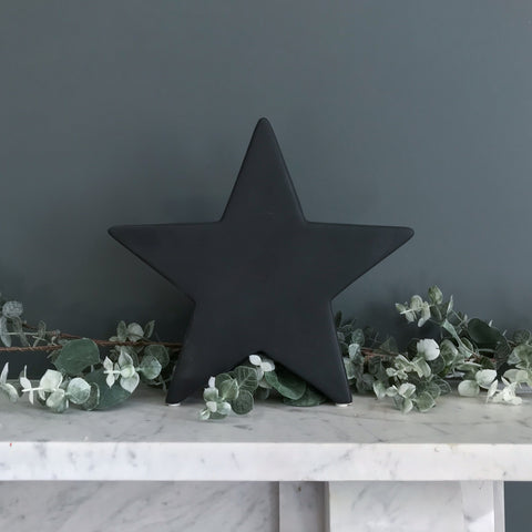 Black Ceramic Standing Star Large
