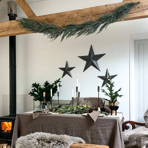 Frosted Pine Garland 195cm
