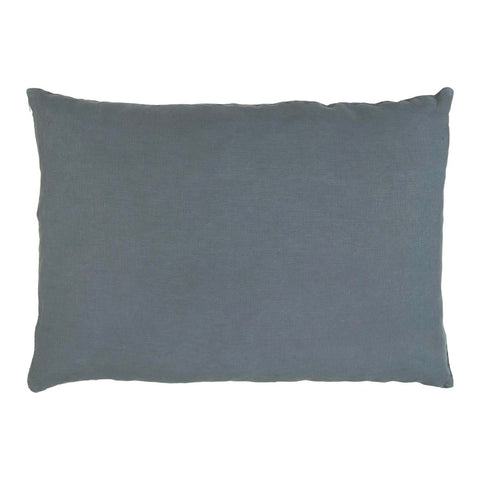 Linen Rectangle Cushion in Historical Blue