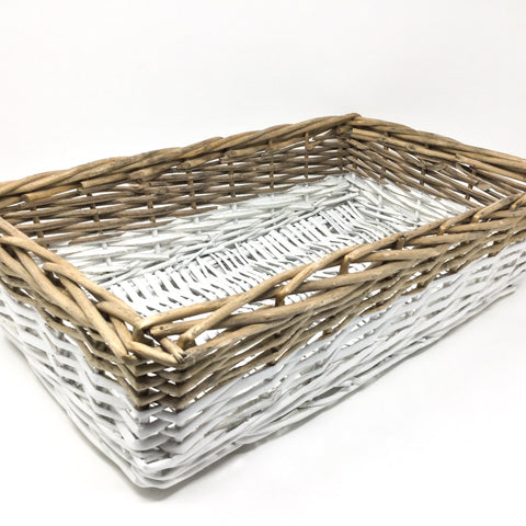 White Dipped Willow Tray - Large