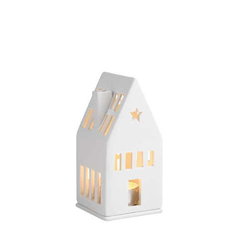 Mini Porcelain Light Up House with Star