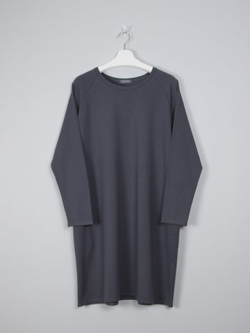 Soft Jersey Dress in Charcoal