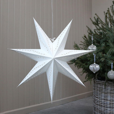 Vintage White Paper Star Decoration