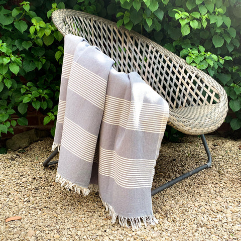 Cotton Hamam Towel in Grey