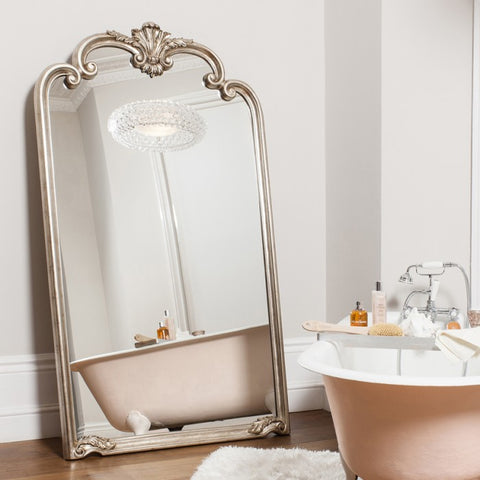 Large Silver Leaner Mirror