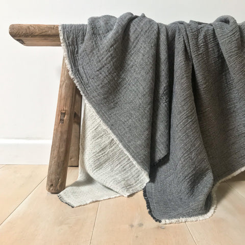 Lightweight Throw - Black / Natural