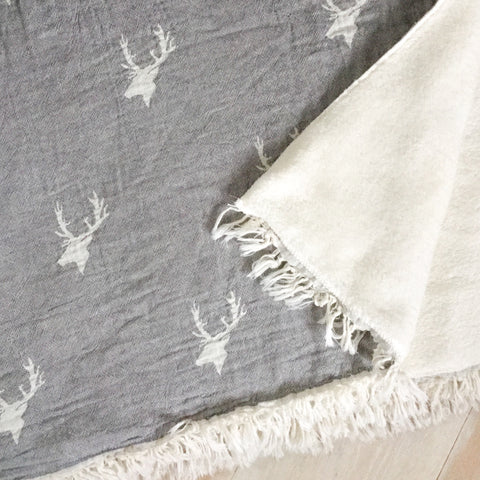 Grey Stag Throw