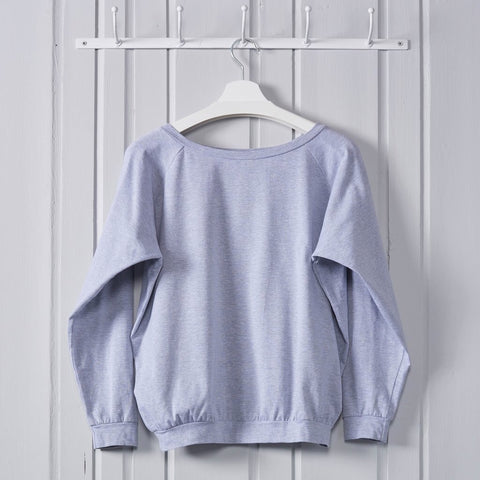 Soft Raglan Top Grey
