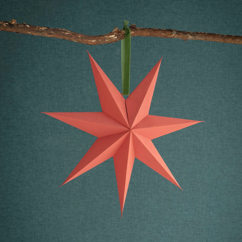 Brick Paper Star Decoration 60cm