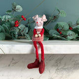 Red Gingham Sitting Mouse
