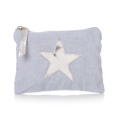 Blue Cotton Purse
