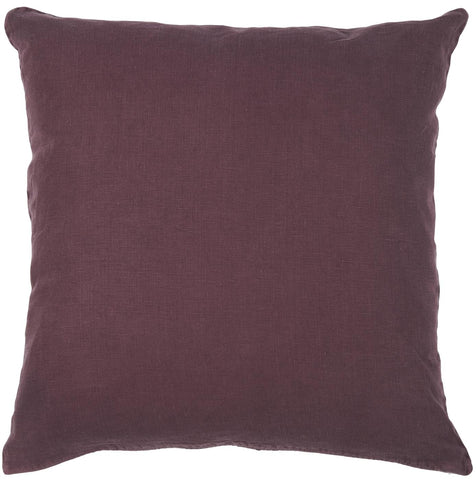 Aubergine Linen Square Cushion