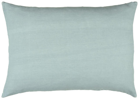 Ice Blue Linen rectangle Cushion