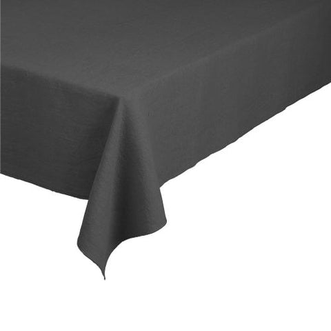 Linen Tablecloth in Charcoal 260 x 140cm