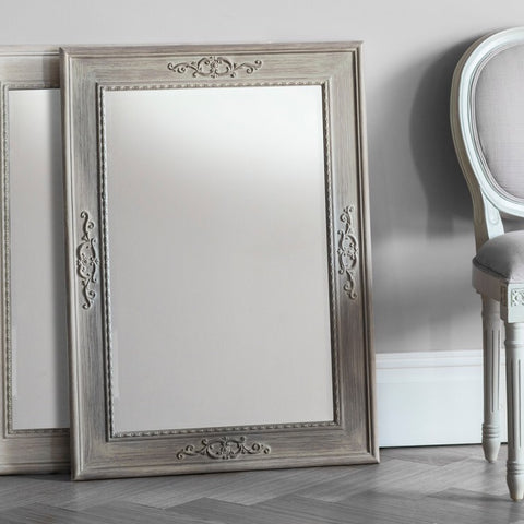 Limed Oak Rectangle Mirror
