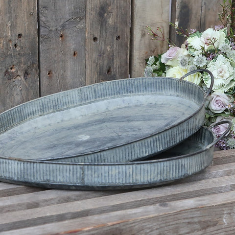Oval Zinc Tray Small