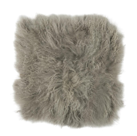Tibetan Sheepskin Seat Pad in Grey