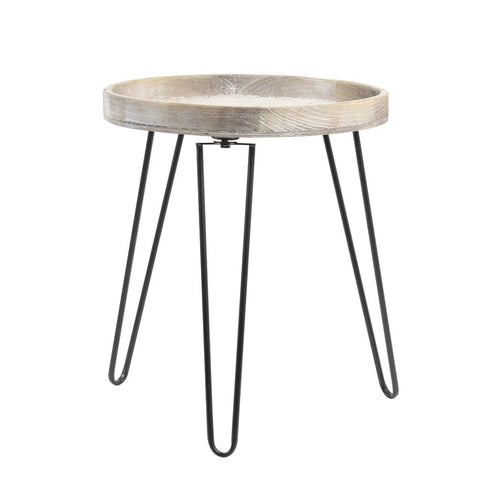 Side Table with Woven Top 40 x 44.5cm