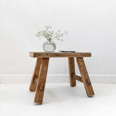 Recycled Teak Milking Stool