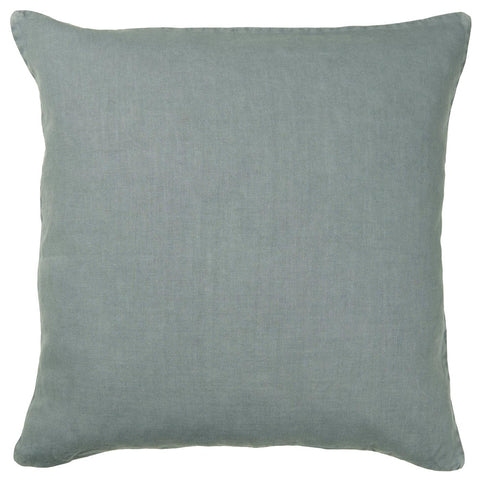 Dusty Blue Linen Square Cushion