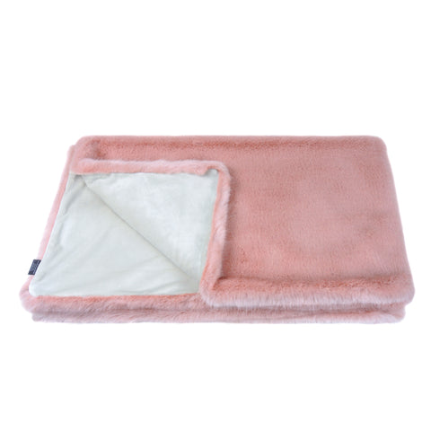 Helen Moore Faux Fur Comforter in Blush