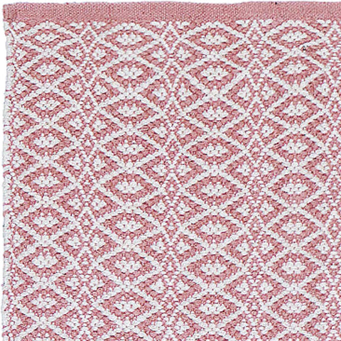 Short Cotton Runner Pink and Ecru