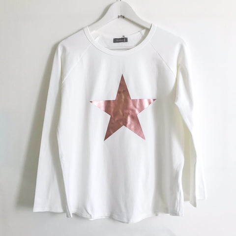 Long Sleeve T-Shirt With Rose Gold Star