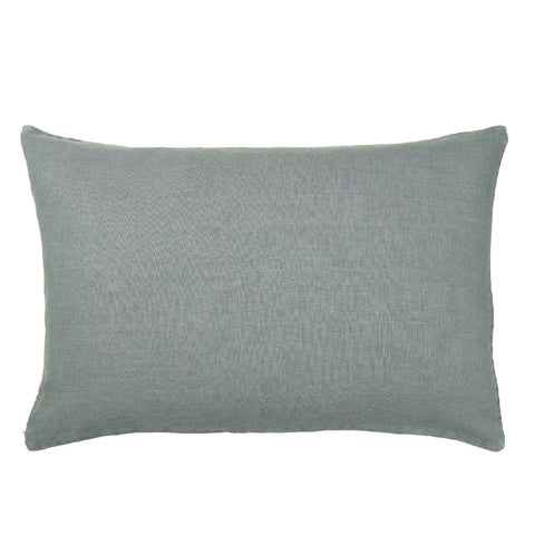 Dusty Blue Linen Rectangle Cushion