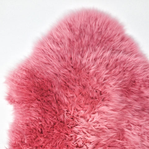 Single Sheepskin in Bubblegum Pink