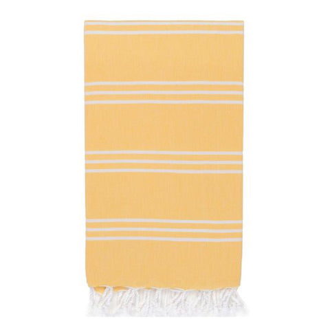 Fine Stripe Hamam Towel in Yellow