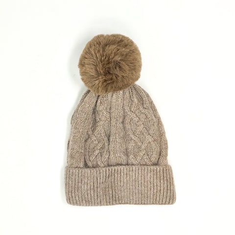 Cashmere Blend Hat Fawn