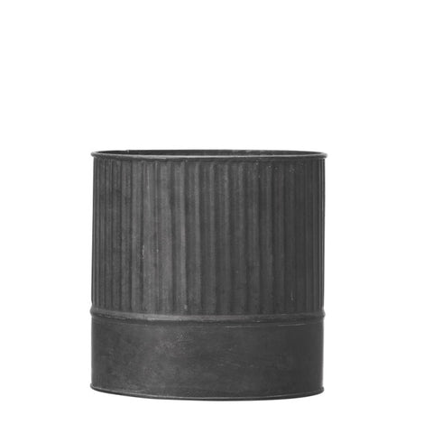 Vertical Ribbed Zinc Planter Large