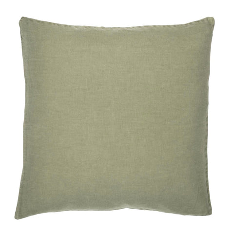 Olive Linen Square Cushion