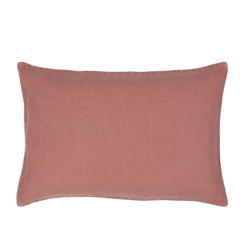 Faded Rose Linen rectangle Cushion