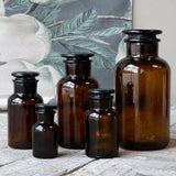 Amber Glass Apothecary Bottle 1L