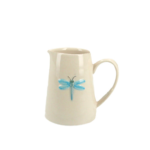 Mini Ceramic Jug with Dragonfly