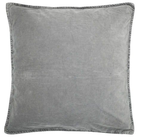 Velvet Cushion Smoke Grey