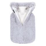 Faux Fur Hot Water Bottle in Frost Cloud