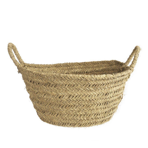 Esparto Grass Log Basket - Large
