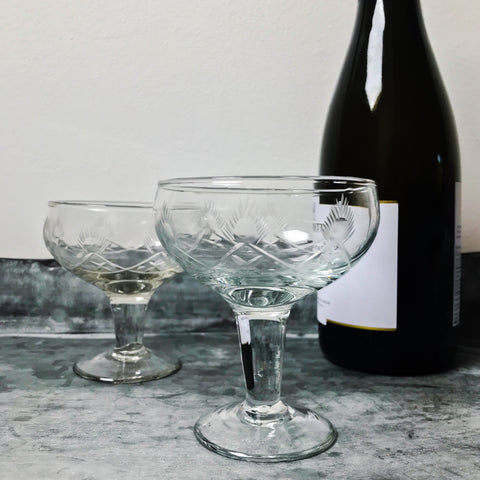 Vintage Style Champagne Saucer
